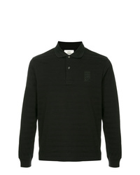 Polo de manga larga de rayas horizontales negro de Kent & Curwen