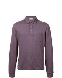Polo de manga larga en violeta