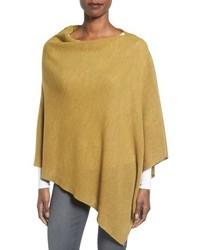 Poncho de lana amarillo de Eileen Fisher