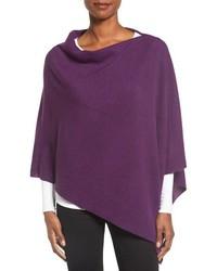 Poncho de lana en violeta de Eileen Fisher