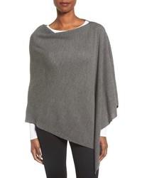 Poncho de lana gris de Eileen Fisher