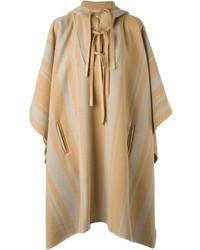 Poncho de rayas verticales marrón claro de 3.1 Phillip Lim