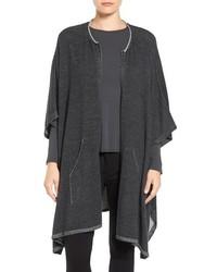 Poncho en gris oscuro de Eileen Fisher