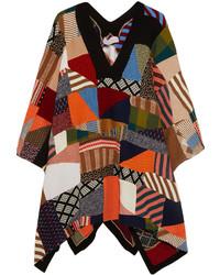 Poncho estampado en multicolor de Chloé