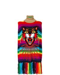 Poncho estampado en multicolor de Gucci