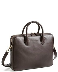 Portafolio de cuero en marrón oscuro de Ralph Lauren