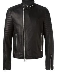 Print Biker Jacket