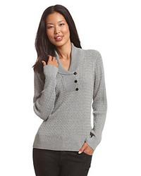 Opte pour le confort dans une veste sans manches et un pull à col châle.