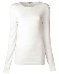 Pull a col rond blanc original 1328073