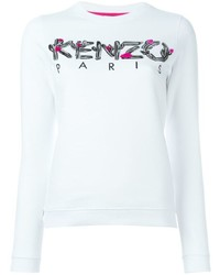 Pull à col rond imprimé blanc Kenzo