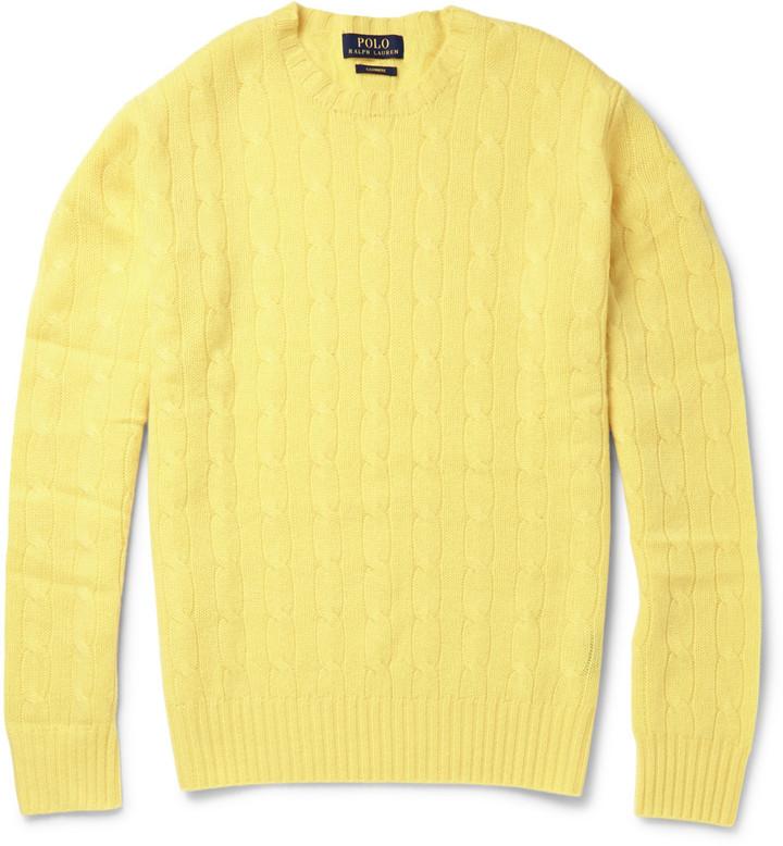 Pull à col rond jaune Polo Ralph Lauren  Où acheter et comment porter 766168a21b1