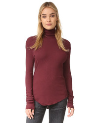 Pull à col roulé bordeaux Cotton Citizen