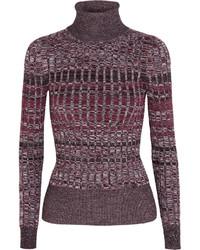 Pull à col roulé en tricot bordeaux Gucci
