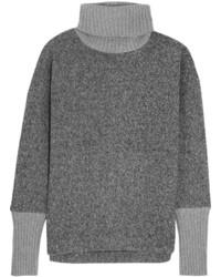 Pull à col roulé en tricot gris J.Crew