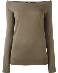 Pull en laine olive Theory
