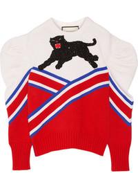 Pull en laine rouge Gucci