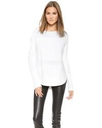 Pull surdimensionné en tricot blanc Helmut Lang