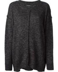 Pull surdimensionné en tricot gris foncé Isabel Marant
