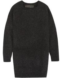 Pull surdimensionné en tricot gris foncé The Elder Statesman