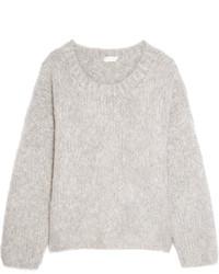 Pull surdimensionné en tricot gris Chloé