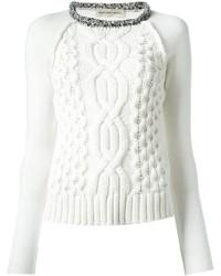 Pull Lacoste Acheter Torsadé Blanc Mode Femmes xFwTYqTZd