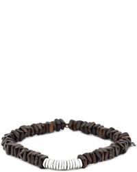 Pulsera con cuentas en marrón oscuro de Tateossian