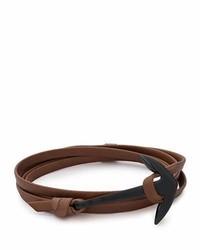 Pulsera de cuero en marrón oscuro de Miansai