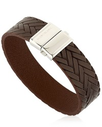 Pulsera de cuero en marrón oscuro de Montblanc