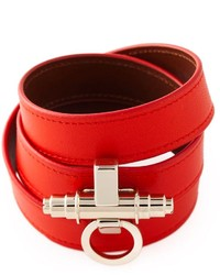 Pulsera de cuero roja de Givenchy