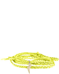 Pulsera en amarillo verdoso