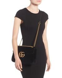 b3e9925f Gucci Medium Gg Marmont 20 Matelasse Velvet Shoulder Bag, $1,980 ...