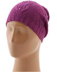 Sperry Top Sider Cable Knit Sequin Beanie W Pom
