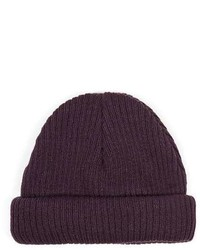 Topman Plum Mini Fit Beanie Hat
