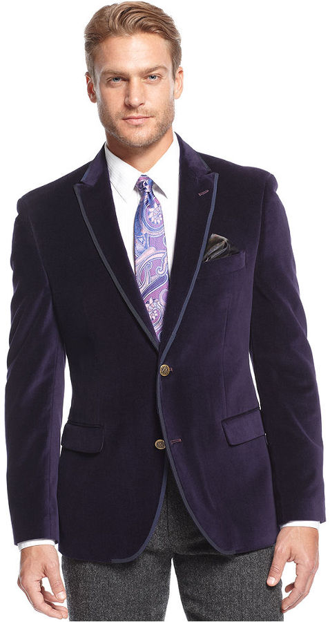 Our purple suits are considered to be a must for all men. SKU#Velvet-2BV Alberto Nardoni Brand PURPLE VELVET BLAZERS FOR MEN $ SKU#PAF8 Mens Stylish 2 Button Sport Jacket Purple Discounted Affordable Velvet ~ Velour Sport coat Blazer $