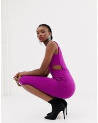 New Look Midi Dress In Bright Purple