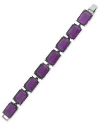 Jessica Simpson Silver Tone Purple Stone Bracelet