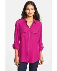 Nexx Silk Blouse Purple Clover Large