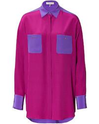 Emilio Pucci Silk Crepe De Chine Tunic Blouse
