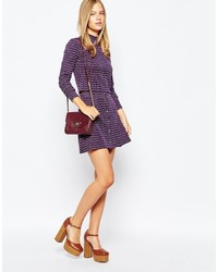 First i first i 70s stripe button through a line skirt medium 373382
