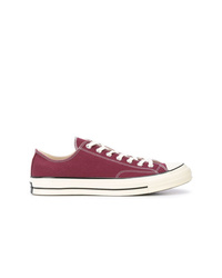 Purple Canvas Low Top Sneakers