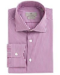 Canali Big Tall Regular Fit Check Dress Shirt