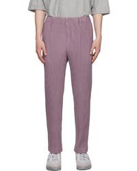 Homme Plissé Issey Miyake Purple Basics Pleated Trousers
