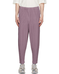 Homme Plissé Issey Miyake Purple Basics Trousers