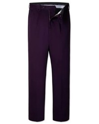 Charles Tyrwhitt Purple Single Pleat Weekend Classic Fit Chinos