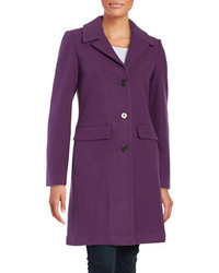 1 Madison Wool Blend Button Front Coat