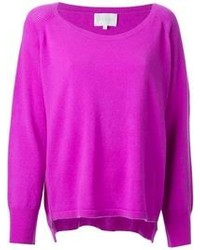 Purple Crew-neck Sweater