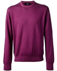 Purple Crew-neck Sweater