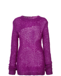 Helmut Lang Distressed Knit Sweater