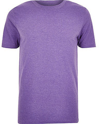 River Island Purple Crew Neck T Shirt