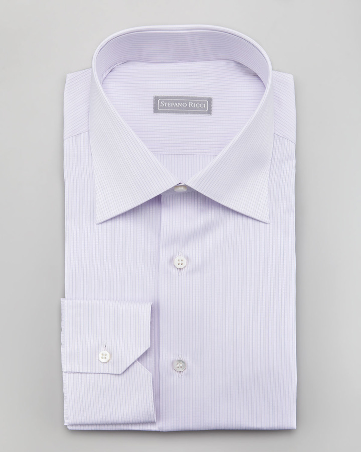 Stefano Ricci Micro Striped Dress Shirt